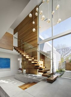 Modern Staircase Design Ideas - Stairs are so usual that you don't provide a reservation. Look into best 10 instances of modern staircase that are as magnificent as they are . Home Stairs Design, Interior Stairs, Modern House Design, Interior And Exterior, Contemporary Home Design, Modern Stairs Design, Room Interior, Sims 4 Modern House, Modern House Facades