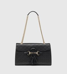 emily guccissima leather chain shoulder bag