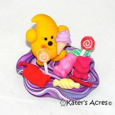 SWEET TREATS PARKER - Polymer Clay Character Limited Edition Collectible by KatersAcres