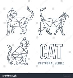 Find Low Poly Logo Icon Cat Pet stock images in HD and millions of other royalty-free stock photos, illustrations and vectors in the Shutterstock collection. Low Poly, Chat Origami, Origami Cat, Geometric Cat, Geometric Drawing, Stylo 3d, Tape Art, 3d Pen, Animal Silhouette