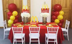 Divine Party Planning 's Birthday / McDonald's - Photo Gallery at Catch My Party Baby Boy Birthday, 10th Birthday, Birthday Party Themes, Mc Donald Party, Kids Pizza Party, Mcdonalds Birthday Party, Party Treats, Bobby, Party Planning