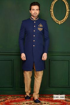 We offer a large sherwani collection including wedding, jodhpuri,sangeet, traditional, Indian and many more. Choose latest shervani designs to buy sherwani online & look the best at any occasion At Indians Fashion Indian Wedding Wear, Indian Party Wear, Mens Sherwani, Western Suits, Shalwar Kameez, Indian Ethnic Wear, Indian Designer Wear, Fashion Wear, Traditional Outfits