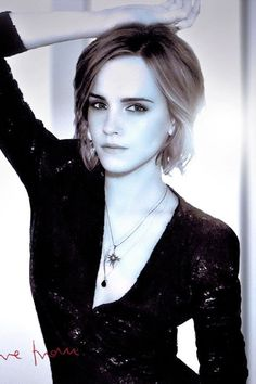 Emma Watson-love her hair - Today Pin Emma Watson Short Hair, Emma Watson Pics, Emma Watson Quotes, Emma Watson Style, Emma Watson Sexiest, Emma Watson Beautiful, Harry Potter Film, Hermione Granger, Hair Today