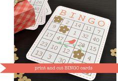 Print & Cut Bingo Cards.