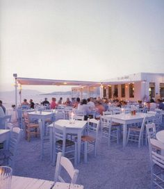 Sea Satin Restaurant - Little Venice, Mykonos, Greece - This Chora neighborhood is one of the most stunning places on the island. Overlooking the southwest end of the harbor, it was here that a lot of early ship captains settled down and built those uniquely spectacular homes overlooking the sea. Many of these historic homes have been transformed into various cozy restaurant, shops, bars, and nightclubs, making this a bustling place at every hour of the day.