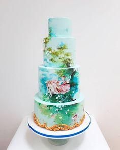 A design by Nevie-Pie Cakes based on The Swing by Fragonard Painted Cakes, Fashion Cakes, Pie Cake, Unique Cakes, Celebration Cakes, Cake Art, Unique Weddings, Cupcakes, Creative