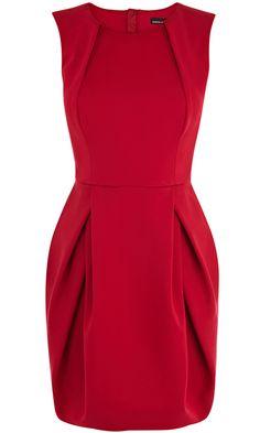 Karen Millen Red High Neck Shift Dress, £160