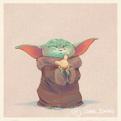 Baby Yoda Eats Star Wars Fan Art A cute series of fan illustrations by artist J. Shari Ewing picturing The Child, aka Baby Yoda, as he eats Disney snacks. Star Wars Baby, Star Wars Fan Art, Cute Disney, Disney Art, Yoda Drawing, Totoro, Disney Snacks, Mickey Mouse, Star Wars Humor