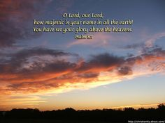 Download Free Christian Wallpaper With Bible Verses: Majestic Sky with Clouds
