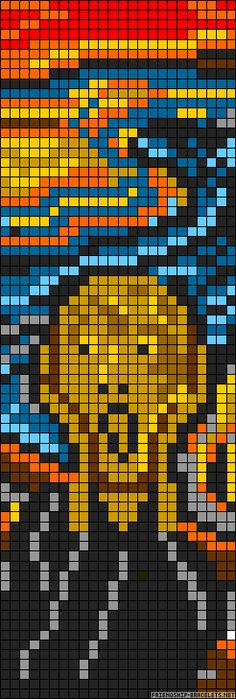 Pittura con il computer: The Scream Edvard Munch perler bead pattern