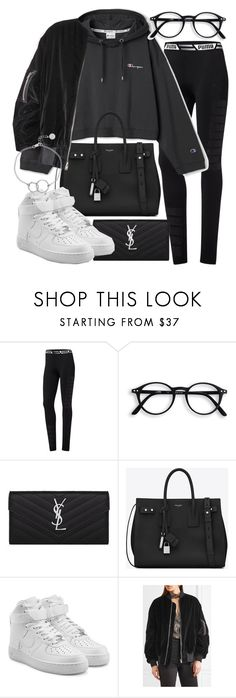 """""""Untitled #21137"""" by florencia95 ❤ liked on Polyvore featuring Puma, Yves Saint Laurent, NIKE, IRO and Chupi"""