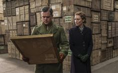 Movie Review: 'The Monuments Men' is lackluster despite a great premise and cast #GeorgeClooney, #MattDamon, and #BillMurray.