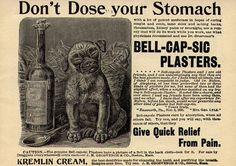 Adorable Dog Bell Cap Quack Medicine AD by paperink, via Flickr