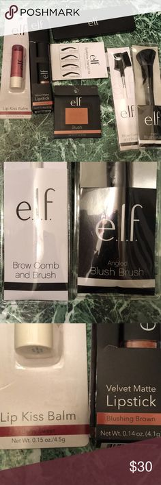 NWT elf cosmetics bundle! 7 Brand new Never used elf cosmetics! Perfect condition! ELF Makeup