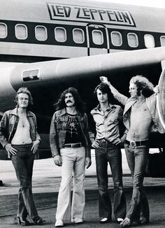 """  Led Zeppelin photographed by Bob Gruen in Pennsylvania, USA, 1973. """