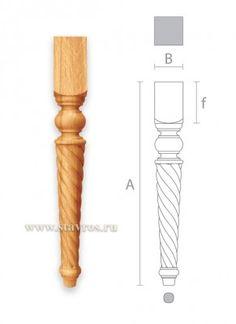 ножка мебельная резная из дерева MN-032