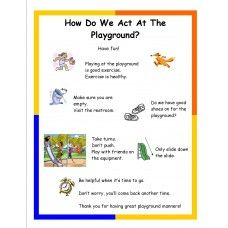Social Tale How Do We Act At The Playground by Miss Marcy. A short primer and… Playground Rules, Playground Safety, Preschool Playground, Teaching Special Education, Student Teaching, Behavior Cards, Positive Behavior Support, Social Stories, Speech And Language