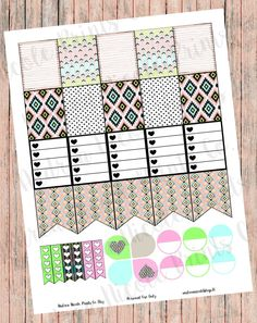 DIY Print & Cut Tribal Print Planner Page Decor Stickers for Erin Condren, Plum Paper Planner, MAMBI Planner by AndreaNicolePrintsCo on Etsy