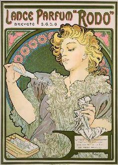 Alphonse Mucha - Poster advertising Lance Parfum ''Rodo''