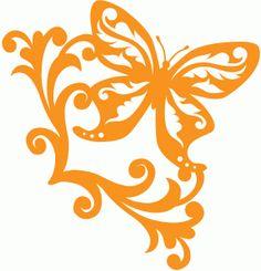View Design #58136: butterfly corner scroll
