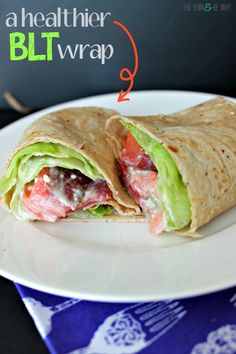 a healthy BLT wrap with Tumaro's Tortillas & a Non-Mayo Sauce #healthy #recipe #wraps #blt