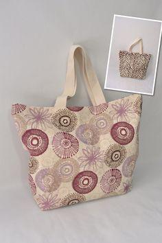 Fun Circles & Brown Zebra Reversible Tote Bag  by VivaEmGifts