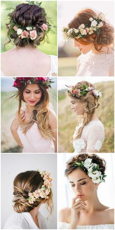 Casamento na Primavera - Do Convite a Decoração - Blumenkranz , Casamento na Primavera - Do Convite a Decoração Frühlingshochzeit - Von der Einladung zur Dekoration Dream. Elegant Wedding Hair, Wedding Hair And Makeup, Wedding Hair Accessories, Boho Wedding, Hair Wedding, Wedding Bride, Wedding Dress, Bohemian Chic Weddings, Floral Crown Wedding