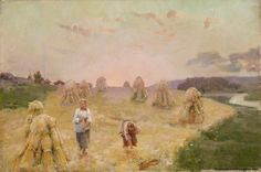 Aukusti Uotila Harvest Folk - – oil on canvas Helene Schjerfbeck, Chur, Harvest Activities, North Europe, Scandinavian Art, Les Oeuvres, Folk, Fine Art, History