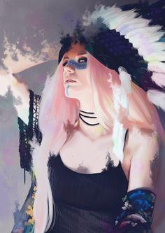 Evanescent, Marta Deer on ArtStation at https://www.artstation.com/artwork/54r8P