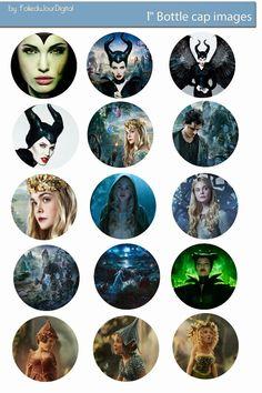 Folie du Jour Bottle Cap Images: Maleficent Free digital bottle cap images