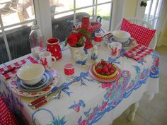 ~vintage breakfast on the porch~