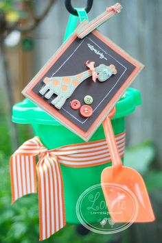Welcome Baby and a cute way to wrap a baby gift