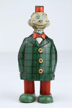 1930s J Chein Happy Hooligan Wind Up Walking Tin Toy | eBay
