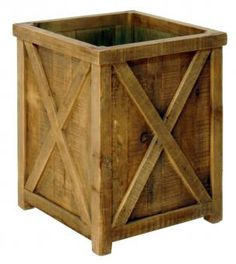Wooden Planter. A Block and Chisel Product.