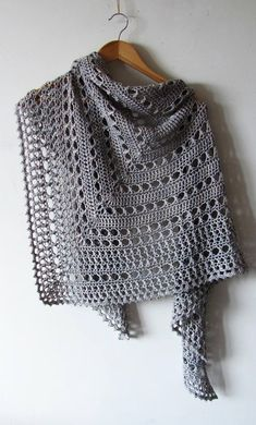 Northern Sea Shawl Crochet Pattern PDF