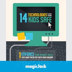 Here are 14 ways to keep your kids safe online: http://blog.magicjack.com/14-technologies-to-keep-your-kids-safe/