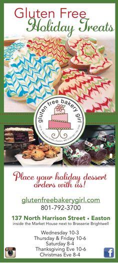 Holiday Desserts, Holiday Treats, Christmas Eve, Xmas, Thanksgiving Eve, Gluten Free Bakery, Milk Cookies, Looks Yummy, Girls Shopping