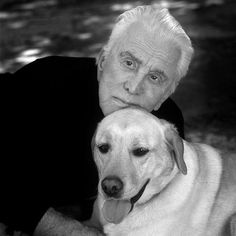 """Kirk Douglas, the Hollywood legend recently shared the wisdom from his long and fruitful life and for all the busy years of his impressive success, Douglas says that he has found the most joy and solace with his dogs. """"I've had dogs all my life …. They have never failed to give me friendship. If you don't have a dog, you are missing a lot in life."""" He credits his two lab retrievers for the lessons he's learned in love, friendship and the important things in life."""