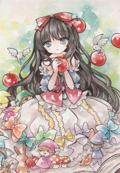 anime girl as snow white