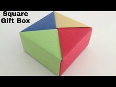 Square Gift Box - DIY Modular Origami Tutorial by Paper Folds ❤️ - YouTube