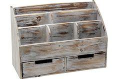MyGift 3/Schubladen rustikal Holz B/üro Lagerung Organizer