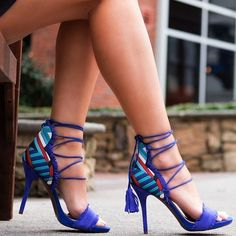 Jessica Simpson Basanti Gladiator Sandals in New Cobalt