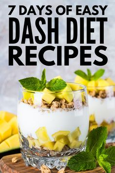 Designed to lower your blood pressure, this DASH Diet for weight loss includes yummy mix and match recipes and snacks you'll love! 7 Days of DASH Diet Recipes for Heart Health and Weight Loss Dash Diet Meal Plan, Dash Diet Recipes, Diet Meal Plans To Lose Weight, 7 Day Meal Plan, Ketogenic Diet Meal Plan, Healthy Diet Plans, Ketogenic Recipes, Snack Recipes, Keto Recipes