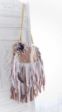 Gypsy fringe bag, boho gypsy fringed messenger bag, Bohemian purse, Fossil purse, Upcycled, Fall fringe trend, Boho, True rebel clothing