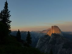 Sunset on Half Dome viewed from Glacier Point, Yosemite, California. (Photo: WendyJames ~ August 2014)