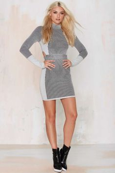 Nasty Gal Die Hard Ribbed Bodycon Dress - Body-Con | Going Out | Dresses