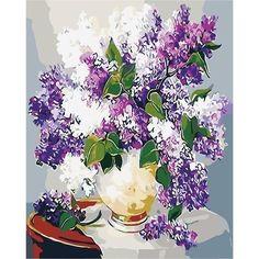 Paint Set, Room Paint, Flowers In Vase Painting, Drop Lights, Paint Types, Paint By Number Kits, Creative Activities, Diy Canvas, Diy Flowers