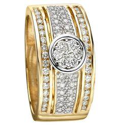 Moncara Diamant-Ring Gold 585 Bicolor