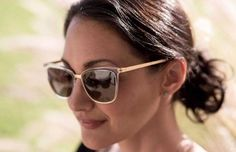 Lindíssima @rachelhammgertz com MODO #450 Crystal / Gold #innovaoptical #modo #modoeyewear #sunglasses #oculosdesol #design #weselldesignforliving
