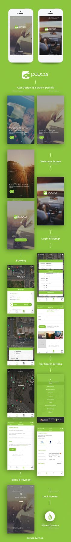 Paycar App UI Kit PSD. Download here: https://graphicriver.net/item/paycar-app-ui-kit/16279829?ref=ksioks